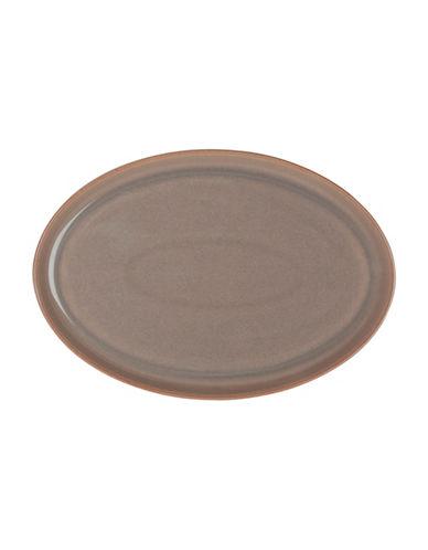 Denby Truffle Oval Platter-TRUFFLE-One Size