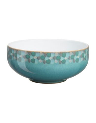 Denby Azure Shell Stoneware Cereal Bowl-AQUA/WHITE-One Size