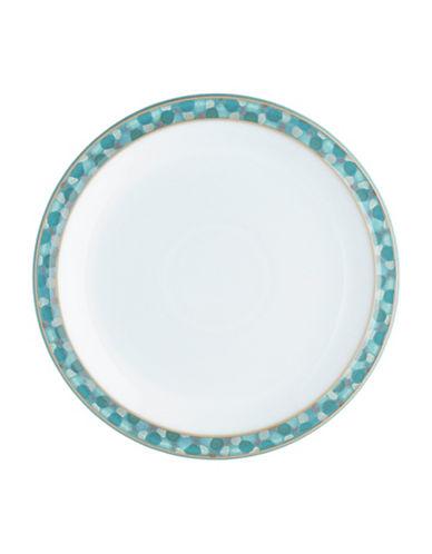 Denby Azure Shell Stoneware Dessert Plate-AQUA/WHITE-One Size