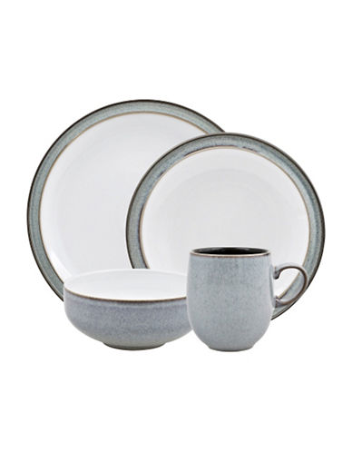 Denby Four-Piece Two-Tone Dinnerware Set-GREY-One Size