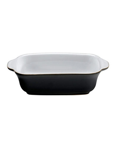 Denby Jet Small Oblong Dish-BLACK-One Size