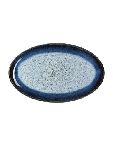 Denby Halo Stoneware Oval Platter-BLACK / HALO ACCENT-One Size