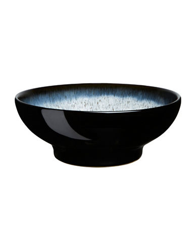 Denby Halo Stoneware Medium Serving Bowl-BLACK / HALO ACCENT-One Size