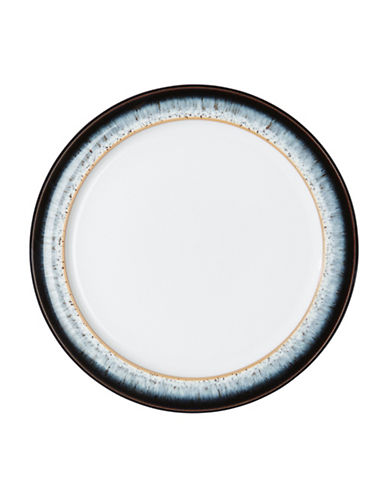 Denby Halo With Ribbon Stoneware Tea Plate-BLACK / HALO ACCENT / WHITE-8
