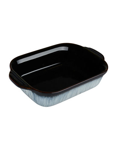 Denby Halo Stoneware Small Oblong Dish-HALO ACCENT / BLACK-One Size