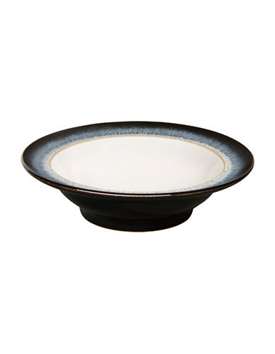 Denby Halo With Ribbon Stoneware Soup Cereal Bowl-BLACK/HALO ACCENT/WHITE-One Size
