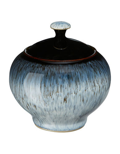 Denby Halo Stoneware Covered Sugar-BLACK / HALO ACCENT-One Size