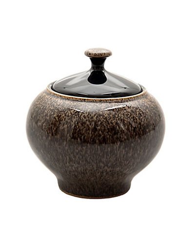 Denby Praline Stoneware Covered Sugar Bowl-BROWN SPECKLE-One Size