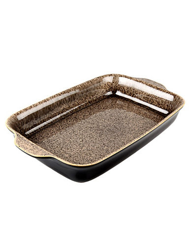 Denby Praline Large Oblong Dish-BROWN SPECKLE-One Size