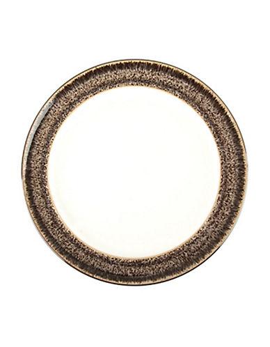 Denby Praline Stoneware Wide Rim Tea Plate-BROWN SPECKLE-8