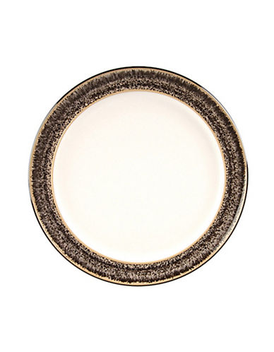Denby Praline Stoneware Wide Rim Dessertsalad Plate-BROWN SPECKLE-One Size