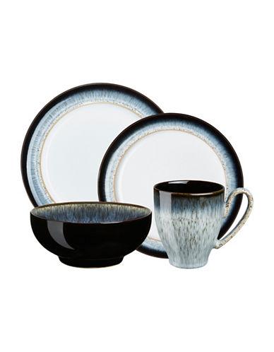 Denby Halo 16-Piece Stoneware Dinnerware Set-BLACK-One Size