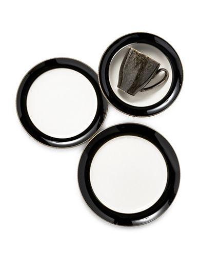 Denby Praline Noir 4 Piece Place Setting-BLACK-One Size