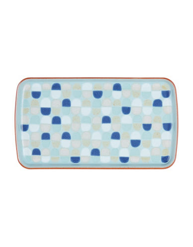 Denby Heritage Pavilion Stoneware Accent Rectangular Plate-BLUE-10