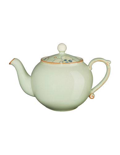 Denby Orchard Stoneware Teapot-GREEN-One Size