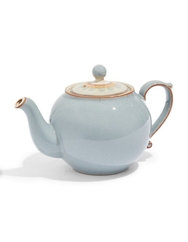 Denby Heritage Terrace Stoneware Teapot-GREY-One Size