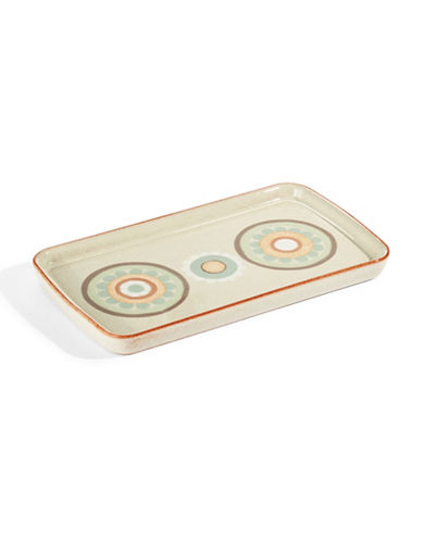 Denby Heritage Terrace Stoneware Accent Rectangular Plate-GREY-10