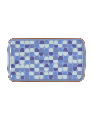 Denby Heritage Fountain Rectangular Accent Plate-BLUE-10