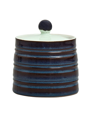 Denby Peveril Covered Sugar Bowl-NAVY BLUE-250 ml