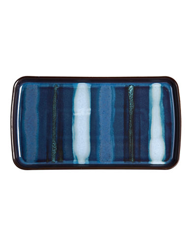 Denby Peveril Stoneware Accent Small Rectangular Plate-NAVY-One Size
