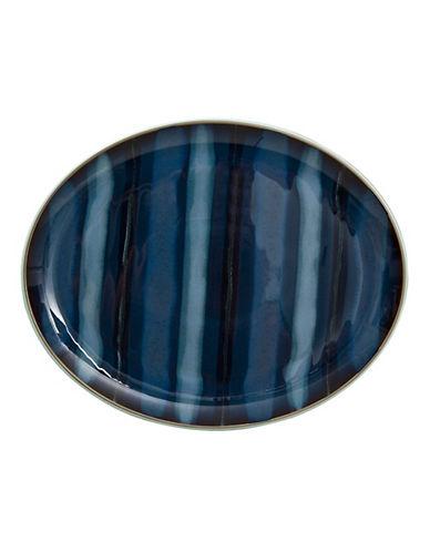 Denby Peveril Oval Platter-NAVY-16in