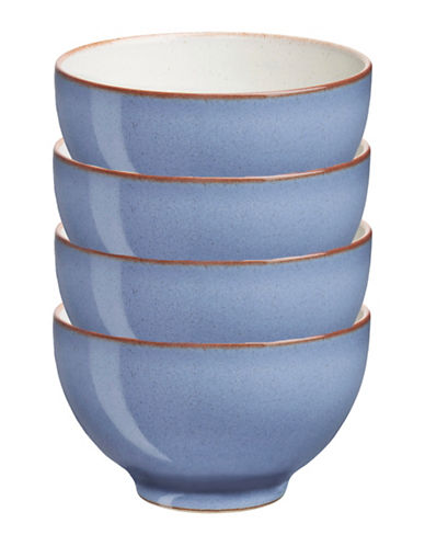 Denby Set of Four Heritage Fountain Small Bowls-BLUE-One Size