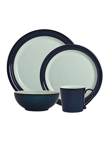 Denby Peveril Four-Piece Stoneware Place Setting-NAVY BLUE-One Size