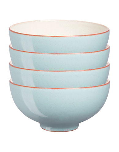 Denby Set of Four Heritage Pavilion Rice Bowls-BLUE-5 Inches