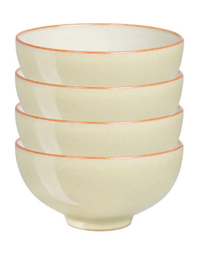 Denby Four-Piece Heritage Veranda Rice Bowl Set-YELLOW-5 Inches