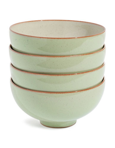 Denby Set of Four Heritage Orchard Bowls-GREEN-5 Inches