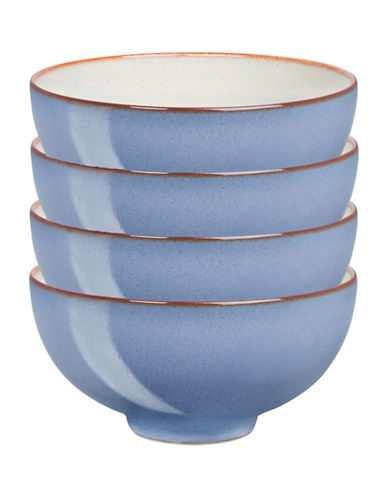 Denby Set of Four Heritage Fountain Rice Bowls-BLUE-5 Inches