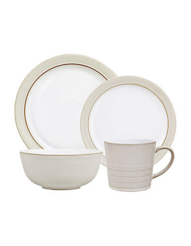 Denby Natural Canvas Four-Piece Place Setting-WHITE-One Size