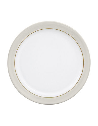 Denby Natural Canvas Stoneware Salad Plate-WHITE-22.5 cm
