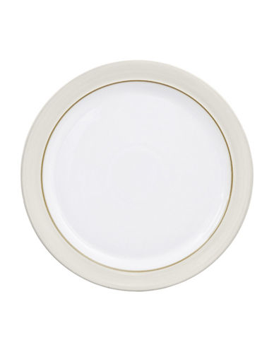 Denby Natural Canvas Stoneware Dinner Plate-WHITE-One Size