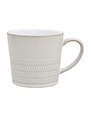 Denby Natural Canvas Stoneware Textured Large Mug-WHITE-300 ml