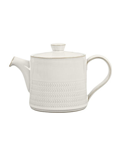 Denby Natural Canvas Stoneware Teapot-WHITE-One Size