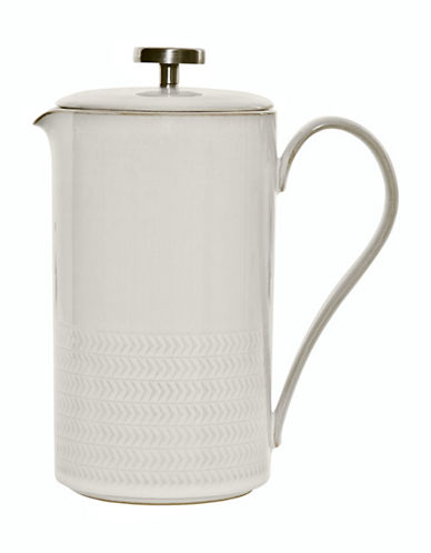 Denby Natural Canvas Stoneware French Press-WHITE-1L