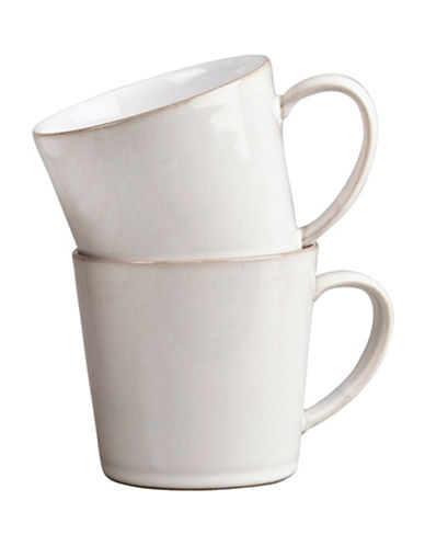 Denby Set of Two Natural Canvas Texture Mugs-NATURAL-One Size