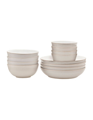 Denby Natural Canvas 12-Piece Bowl Set-NATURAL-One Size
