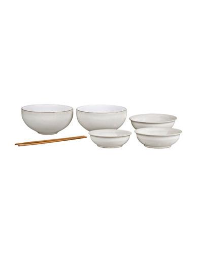 Denby Seven-Piece Natural Canvas Asian Bowl Set-NATURAL-One Size