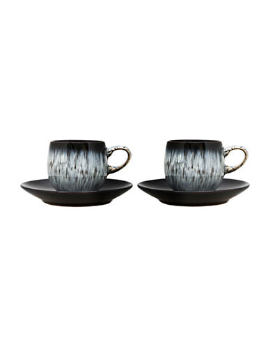 Denby Halo Four-Piece Espresso Set-BLACK-One Size