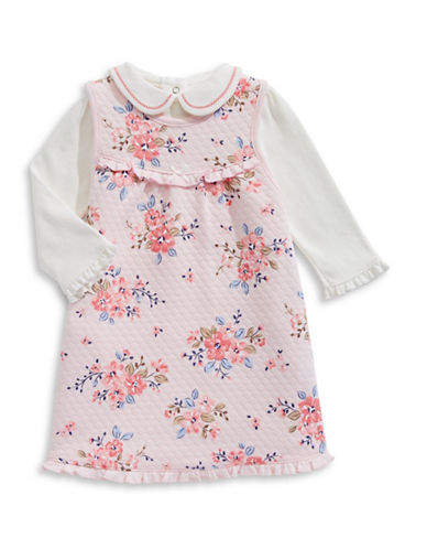 Little Me Two-Piece Floral Jumper Set-PINK-9 Months