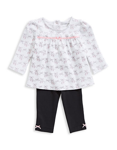 Little Me Three-Piece Ballet Top and Pant Set-BLACK-12 Months