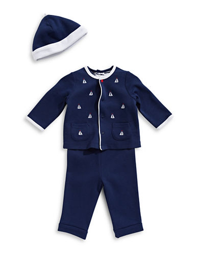 Little Me Four-Piece Sailing Cotton Set-BLUE-Newborn
