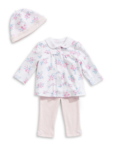 Little Me Four-Piece Floral Cotton Set-PINK-3 Months