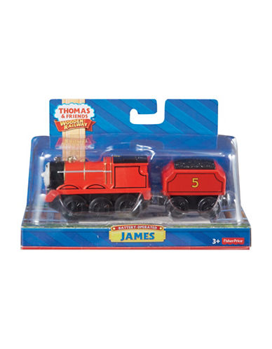 Fisher Price Thomas and Friends Wooden Railway Battery Operated James Toy-MULTI-One Size
