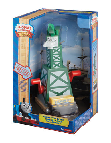 Fisher Price Thomas and Friends Wooden Railway Cranky the Crane Set-MULTI-One Size