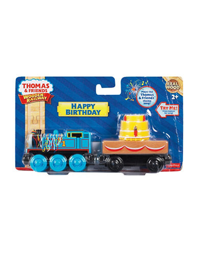 Fisher Price Thomas and Friends Wooden Railway Happy Birthday Train Set-MULTI-One Size