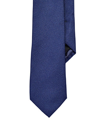 Izod Solid Black Tie-NAVY-One Size