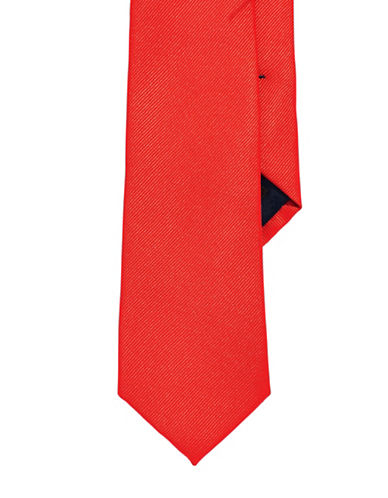 Izod Solid Black Tie-RED-One Size